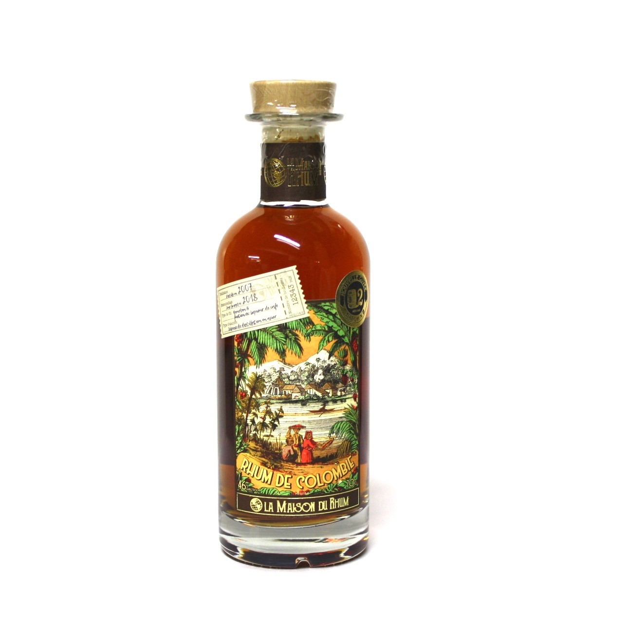coloma rum coloma batchn ° 2 the rum house 70cl 46 °